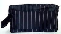 Косметичка мужская несессер прямоугольной формы в полоску с карманом, фото 1