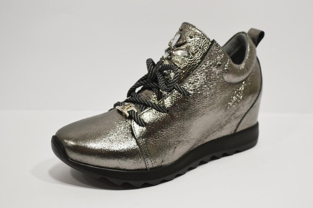 Кроссовки серебристые Alpino 0583