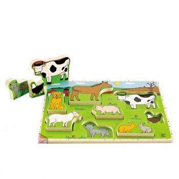 Пазл Животные Фермы умеющие стоять Е1450