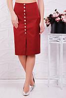 Красивая юбка Selena марсала (42-48)