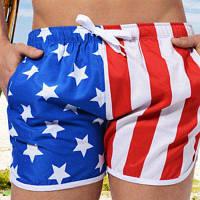 AUSTINBEM Короткие мужские пляжные шорты на шнуровке L