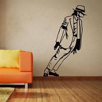 Мода Майкл Джексон Pattern стикер стены для Livingroom Спальня украшения Чёрный