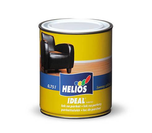 Паркетный лак уретано-алкидный HELIOS IDEAL, глянцевый, 2,5л, фото 2