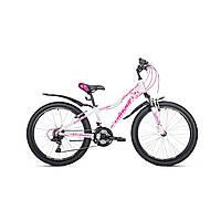 """Детский велосипед Avanti Jasmine 24"""" бело-розовый"""