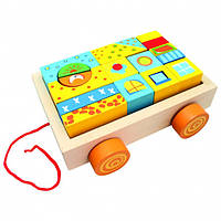Тележка с кубиками (19 деталей) BINO