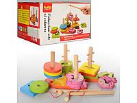Деревянная игрушка Геометрика рыбалка, MD 0902, 004567