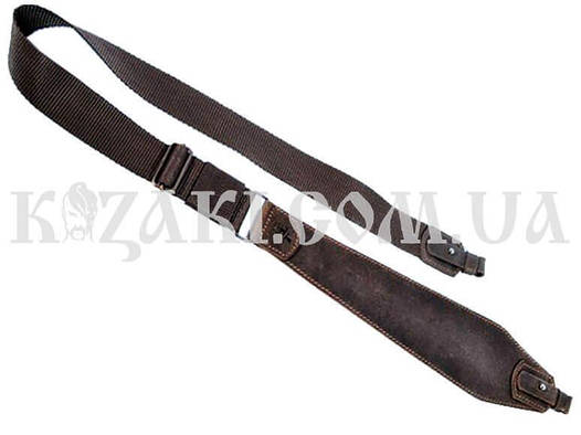 Ремень ружейный Ретро трапеция №2 коричневый (кожа)