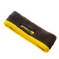 ARTENGO Sport Headband - Grey/Yellow