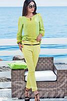 Укороченные желтые брюки из коттона