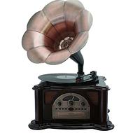 Граммофон Синатра вишня (CD, USB/SD,АМ/FM радио)