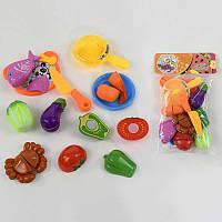 """Гр Овощи и морепродукты на липучках 6066 (72) 12 предметов, в кульке """"FUN GAME"""""""