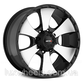 MKW OFF-ROAD M19 Satin Black with Machined Face