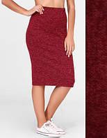 Женская юбка карандаш ангора софт 42, Красный