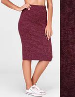 Женская юбка карандаш ангора софт 50, Бордовый