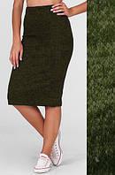 Женская юбка карандаш ангора софт 50, Хаки