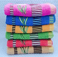 Банные полотенца  Цветочки.