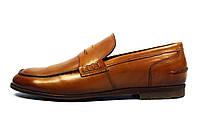 Стильные коричневые мужские кожаные туфли-лоферы Green Foot, фото 1