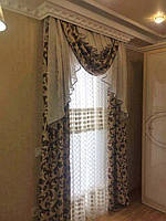 Товар на нашем сайте https://vr-textil.com.ua/p476650862-komplekt-lambreken-shtorami.html