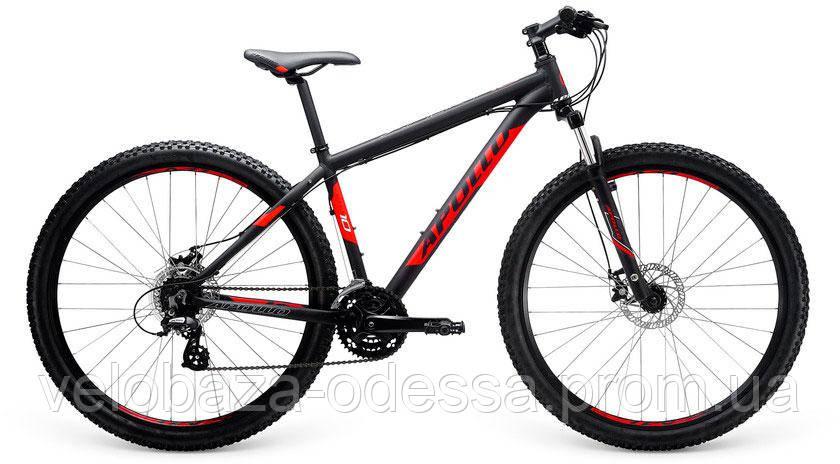 "Велосипед 29"" Apollo Xpert 10 рама - XL Matte Black/Matte Red/Matte White 2017, фото 2"
