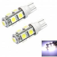 T10 9 SMD 5050 Светодиодная автомобильная лампа 4.5Вт 6000K 80Лм 2шт Белый