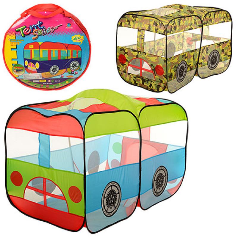 Палатка Домик детская игровая Автобус, размер 151-75-90 см, 2 вида, M 3330