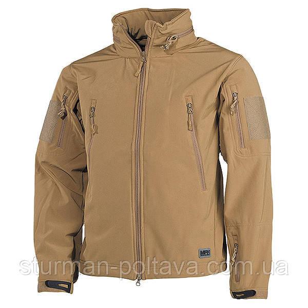 """Куртка мужская тактическая демисезонная SOFTSHELL JACKE """"Scorpion"""" цвет койот  MFH  Германия размер S"""
