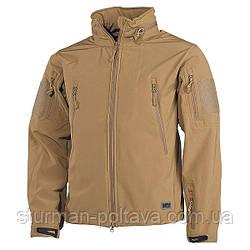 """Куртка чоловіча тактична демісезонна SOFTSHELL JACKE """"Scorpion"""" колір койот MFH Німеччина розмір S"""