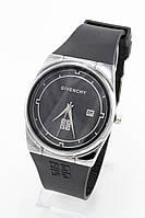 Женские наручные часы Givenchy (Живанши) серебристые с чёрным циферблатом ( код: IBW090SB )