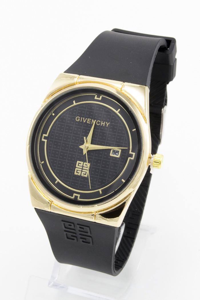 Женские наручные часы Givenchy (Живанши) золото с чёрным циферблатом ( код: IBW090YB )