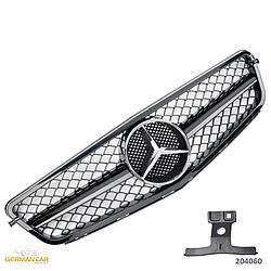 Решетка радиатора Mercedes C204 Coupe стиль C63 AMG (черный глянц)