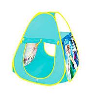 Палатка детская игроваяФроузен Frozen (Холодное сердце),пирамида размер72-72-87 см, в сумке, М 3744