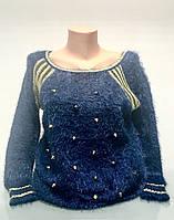 Туника женская травка синяя, фото 1