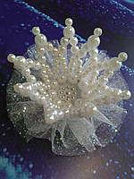 """Шпилька """"Перлинна корона"""" подарунок доньці ., фото 1"""