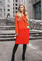 Трендовое двухцветное пальто S M L