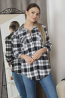 Женская рубашка в клетку 60249