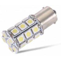 1156 27 SMD 5050 автомобильная LED лампа 12В 13Вт 6000K 220Лм серебристый и желтый