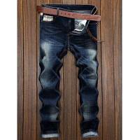 Узкая прямые джинсы мужские с дизайном сращивания 33