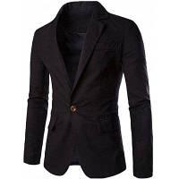 Мужской приталенный пиджак с воротником стойкой M