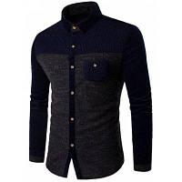 Рубашка с длинными рукавами и карманом из вельвет-корда