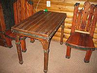 """Стол и стул под старину """"Крокус""""."""