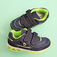 Детские синие кроссовки с подсветкой для детей BI&KI размер 27,28,29,30,32 размер 32 - 21см