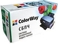 СНПЧ ColorWay Canon MP230/235/240/250/260/270/280/490, iP2700, MX320/330/340/350/360/410/420, 4x100 г чернил (MP240CN-4.1NC)