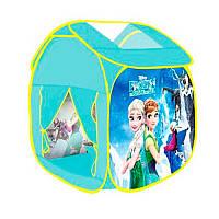 Палатка детская игроваяФроузен Frozen (Холодное сердце),Куб размер65-65-85 см,М 3743