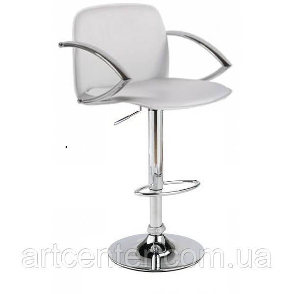 Стул барный, стул для визажиста, хокер(ЛЮКС белый)