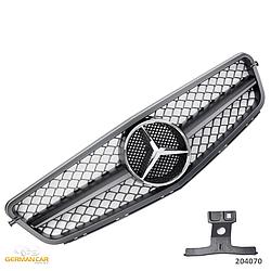Решетка радиатора Mercedes C204 Coupe стиль C63 AMG (черный мат)
