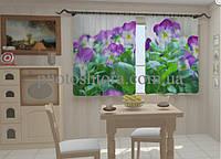"""Фото штора """"Анютины глазки для кухни"""" 150 х 250 см"""