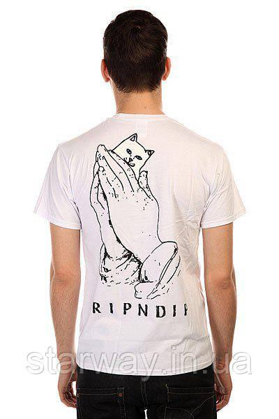 Футболка стильна RipNDip cat in hand logo