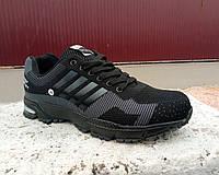 Кроссовки черные мужские Bayota - Adidas сетка 40 -45 р-р, фото 1