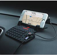 Автомобильный держатель REMAX Car Holder RC-CS101 Combo Cable (microUSB+Lightning)
