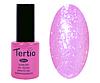 Гель лак Tertio 168, розовый с блестками, 10мл